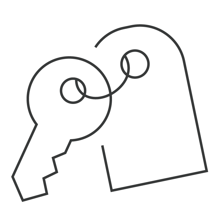 Private office key and tag icon for The Professional Centre
