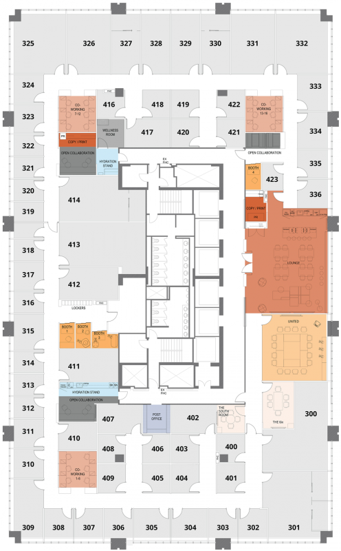 Office space rental floor plan - 120 Adelaide St W, suite 120