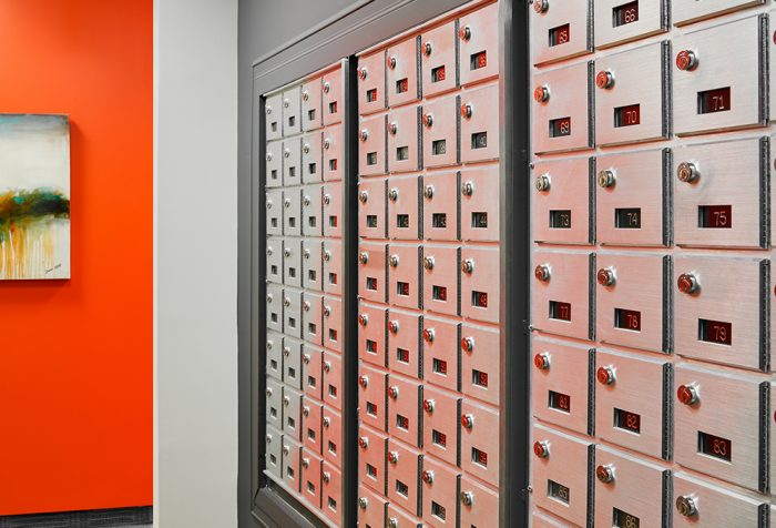 Mailboxes in Toronto onsite at The Professional Centre