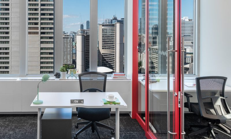 private office rental with view