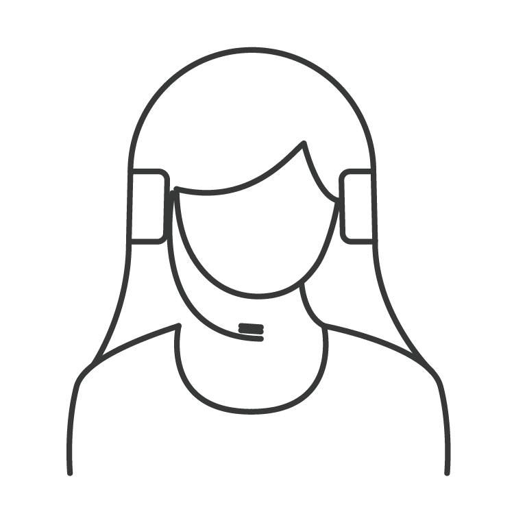 Administrative support person at The Professional Centre with headset icon